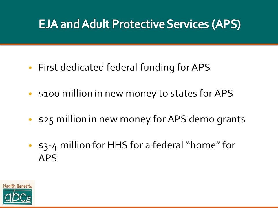EJA and Adult Protective Services (APS)