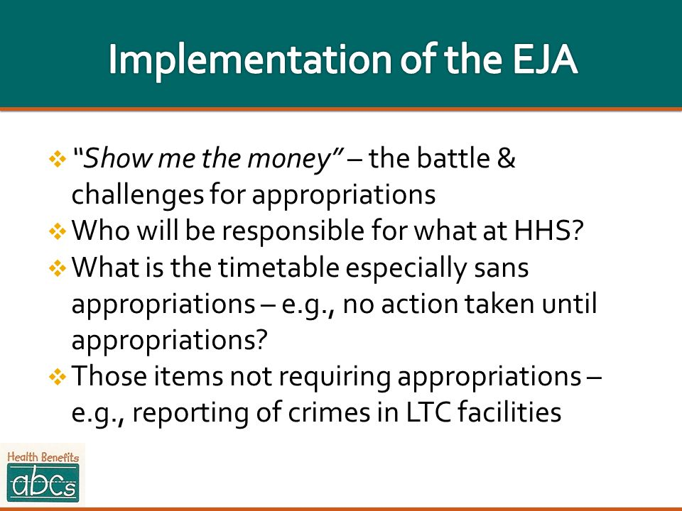 Implementation of the EJA