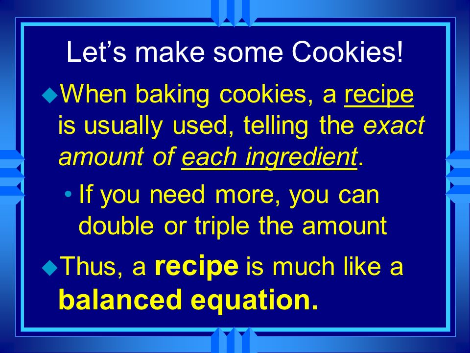Let's make some Cookies!