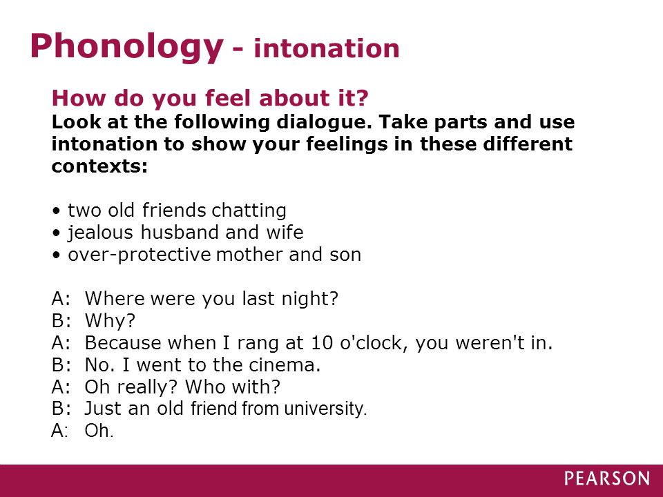 Phonology - intonation