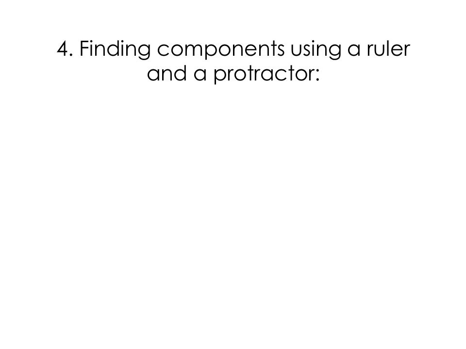 4. Finding components using a ruler and a protractor: