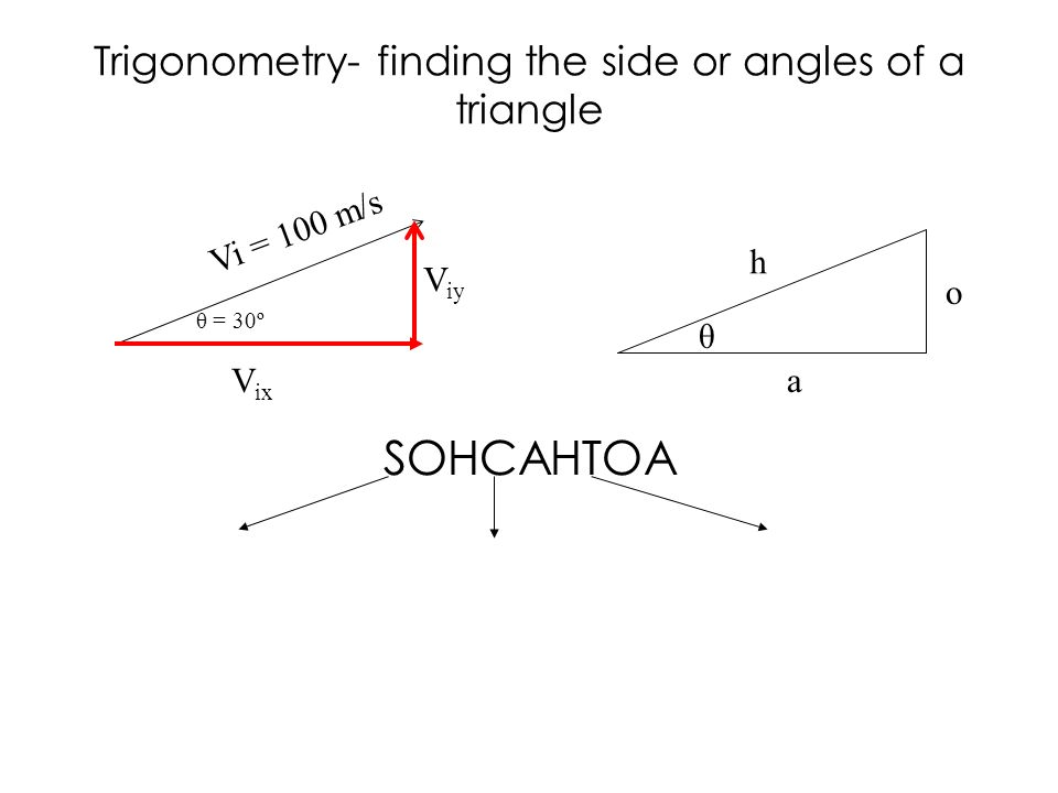 Trigonometry- finding the side or angles of a triangle