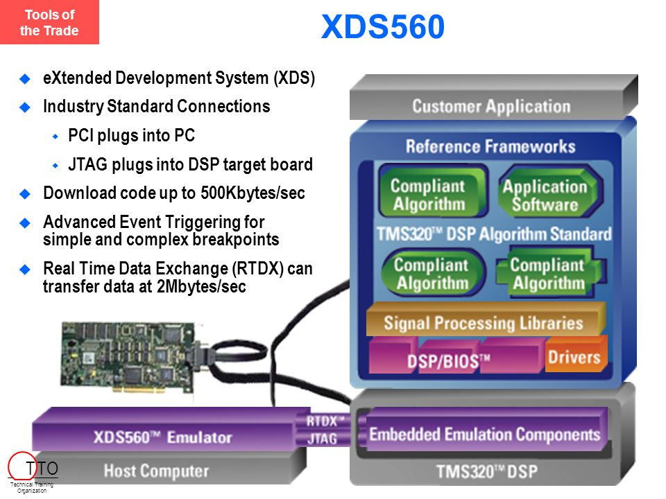 XDS560 eXtended Development System (XDS) Industry Standard Connections