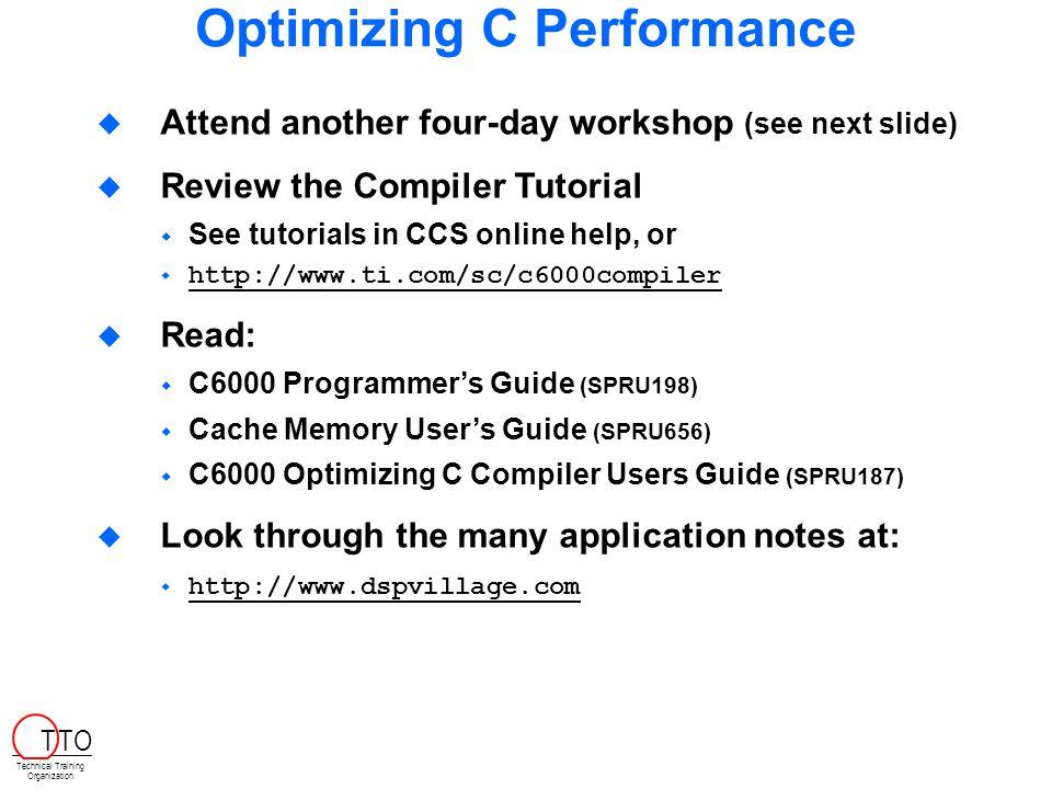 Optimizing C Performance
