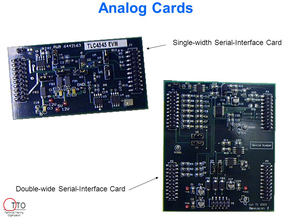 Analog Cards T TO Single-width Serial-Interface Card