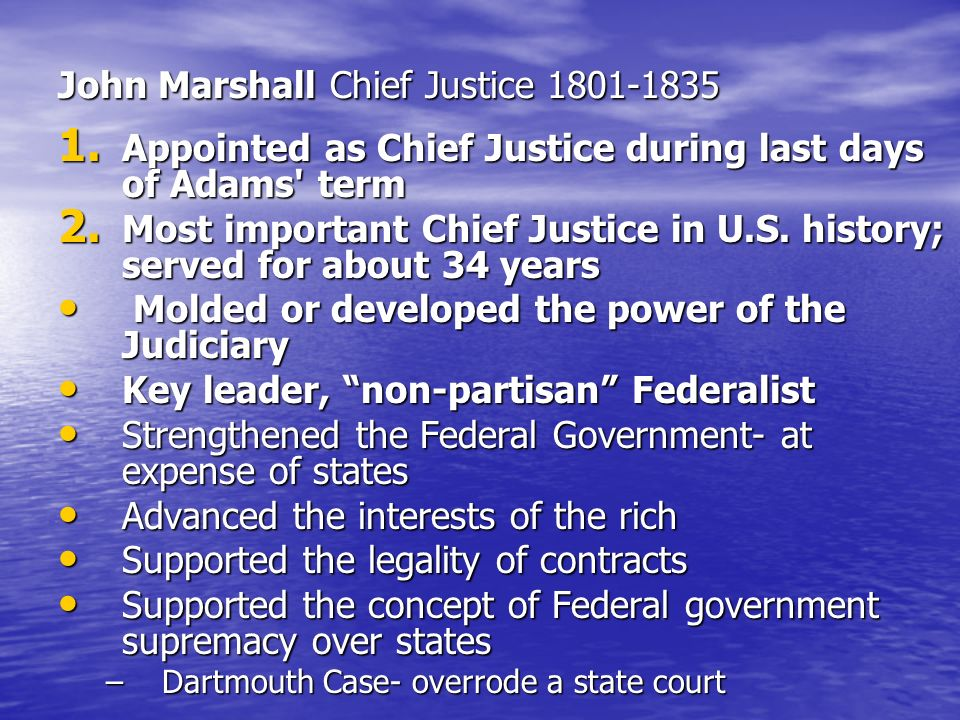 John Marshall Chief Justice 1801-1835