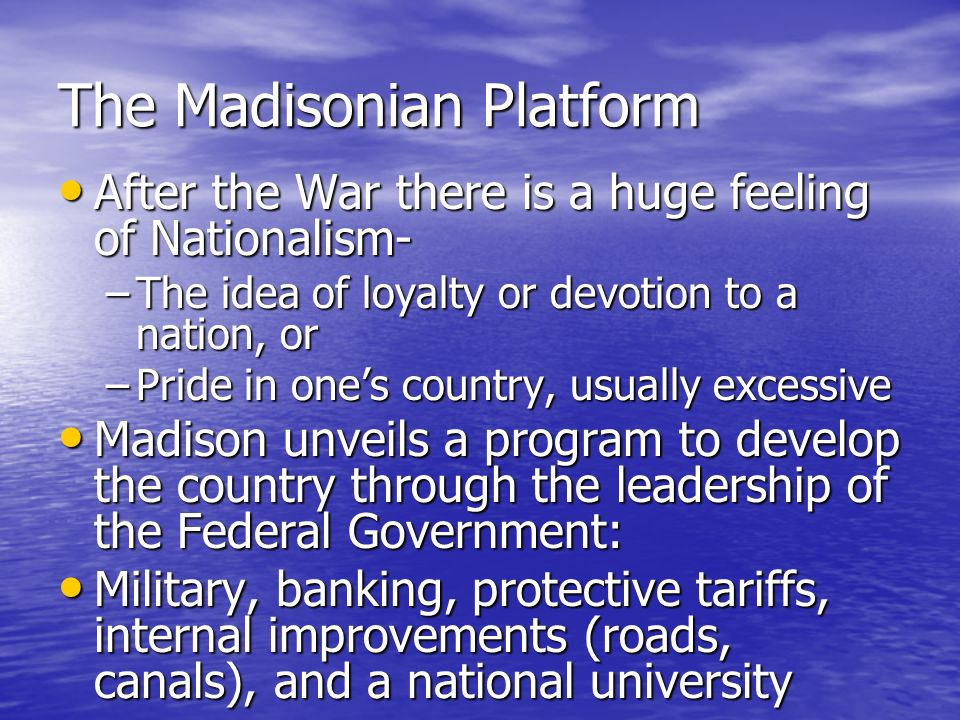 The Madisonian Platform
