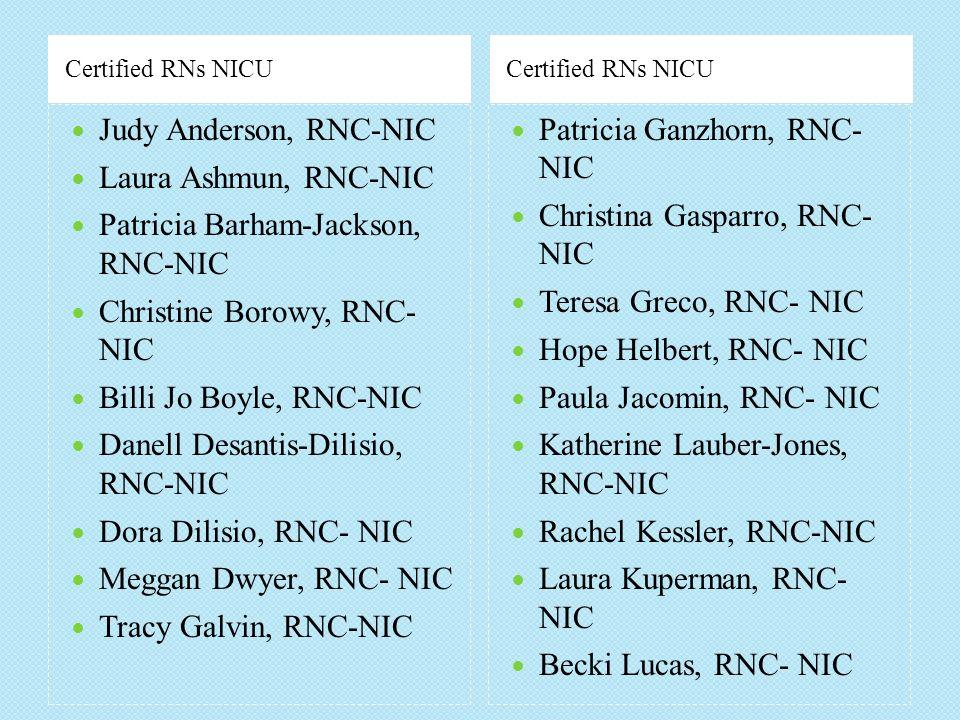 Patricia Barham-Jackson, RNC-NIC Christine Borowy, RNC- NIC