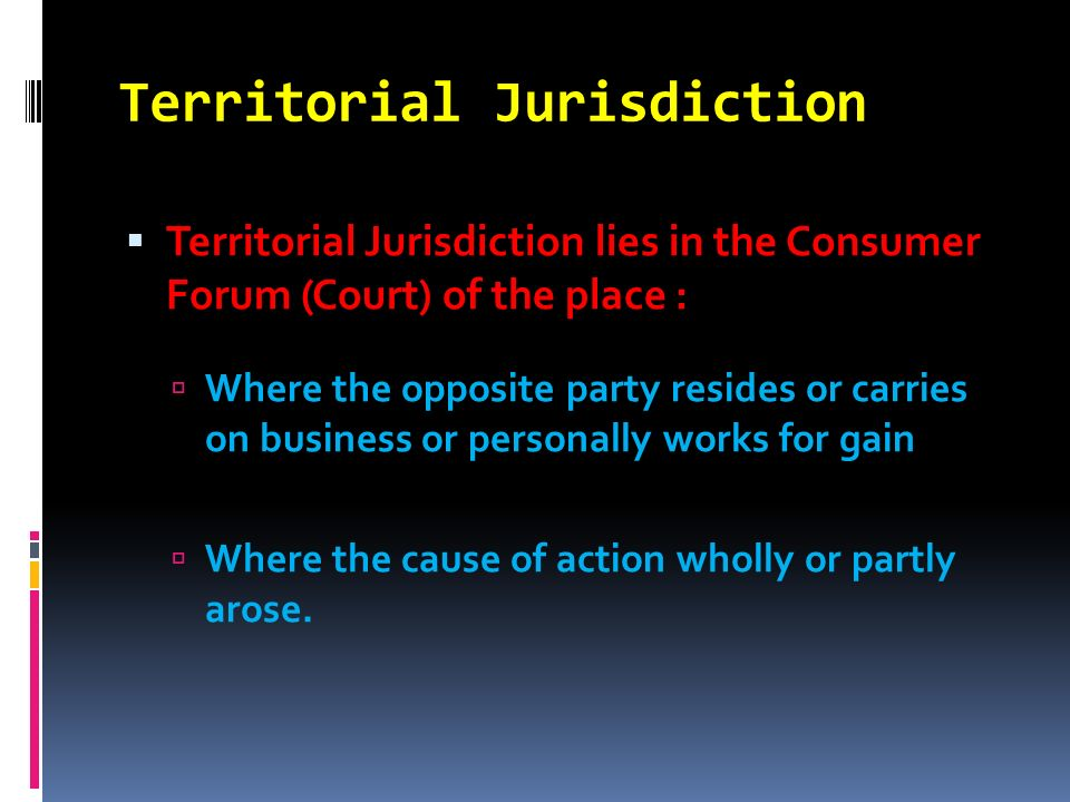 Territorial Jurisdiction