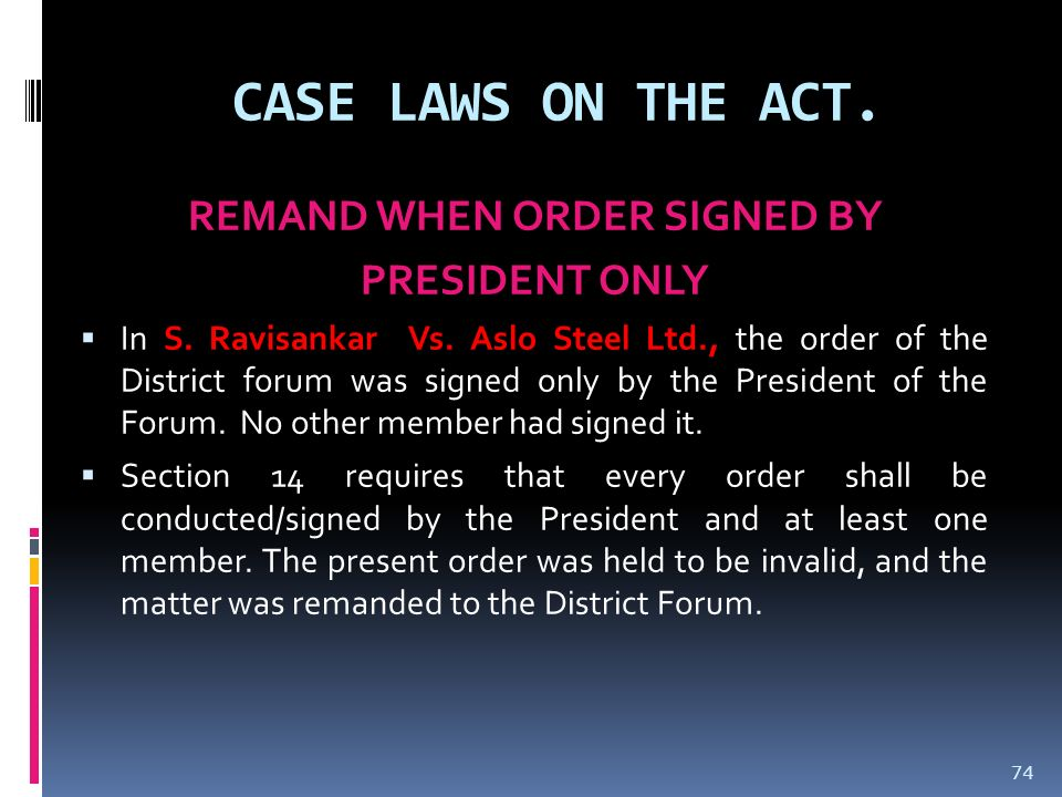 REMAND WHEN ORDER SIGNED BY
