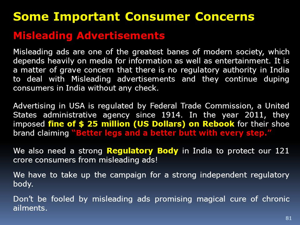 Some Important Consumer Concerns