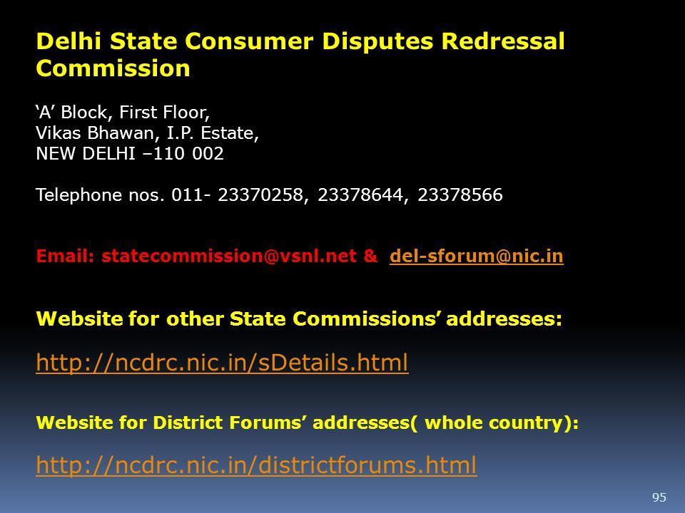 Delhi State Consumer Disputes Redressal Commission