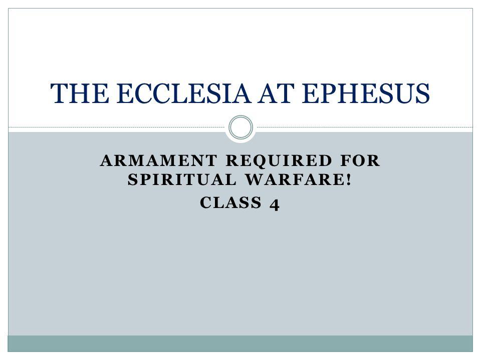 THE ECCLESIA AT EPHESUS