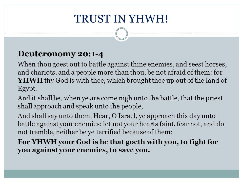 TRUST IN YHWH!
