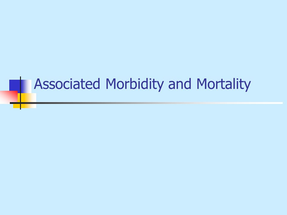 Associated Morbidity and Mortality
