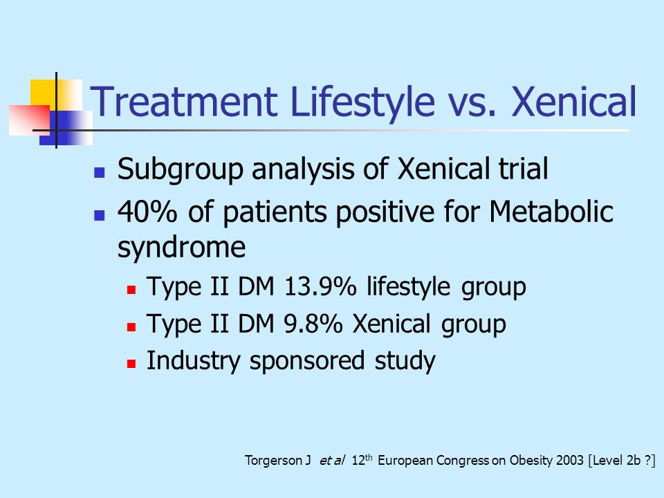 Treatment Lifestyle vs. Xenical