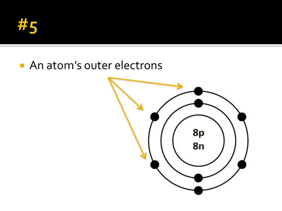 #5 An atom's outer electrons