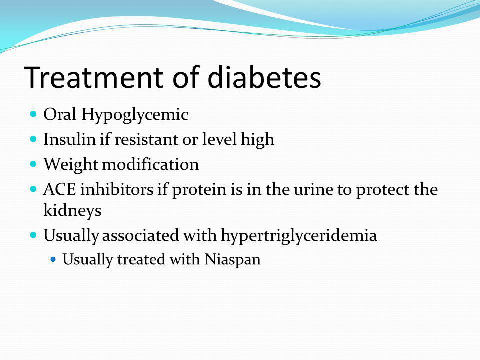 Treatment of diabetes Oral Hypoglycemic
