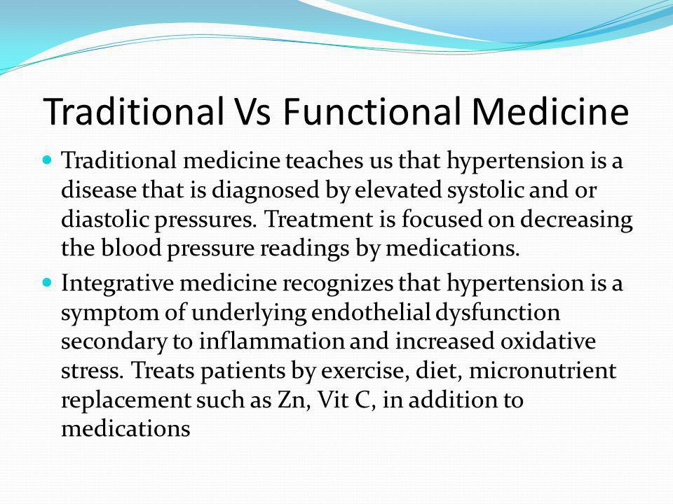 Traditional Vs Functional Medicine