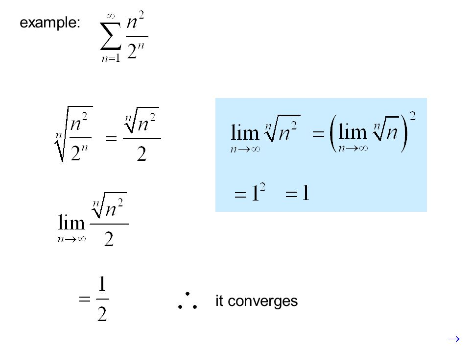 example: it converges