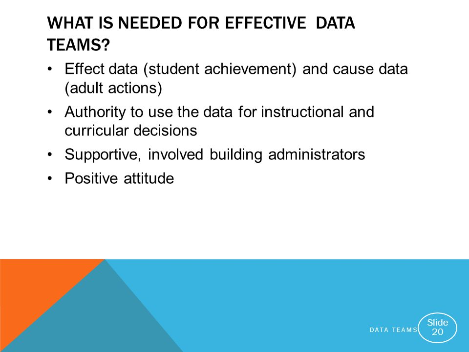 What Is Needed for Effective Data Teams