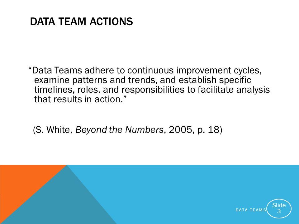Data Team Actions