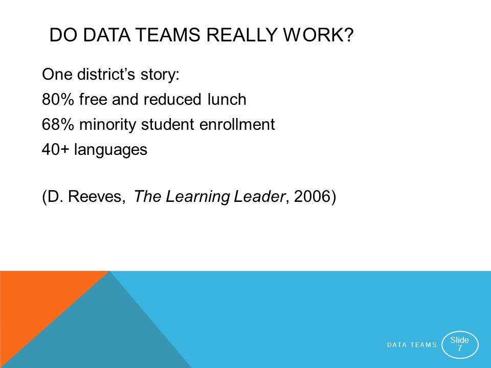 Do Data Teams Really Work