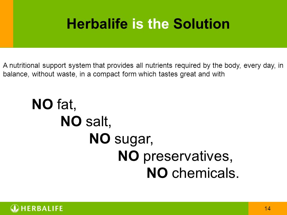 Herbalife is the Solution