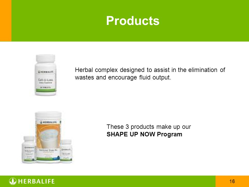 Products Herbal complex designed to assist in the elimination of wastes and encourage fluid output.
