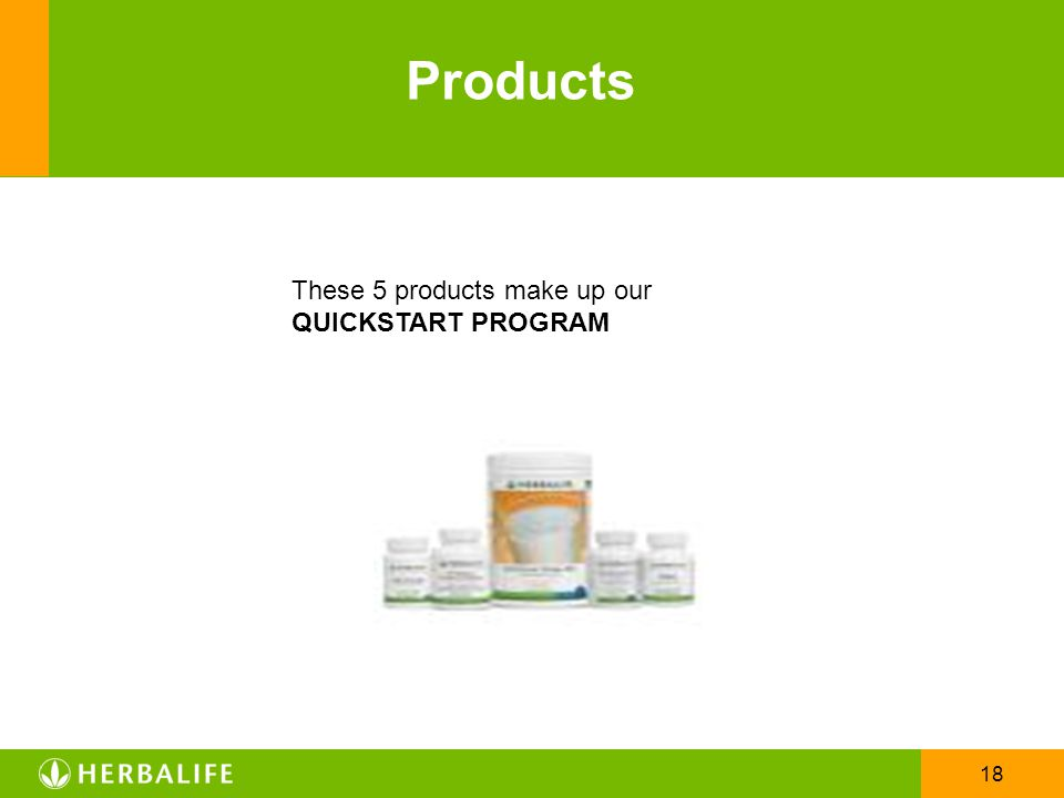 Products These 5 products make up our QUICKSTART PROGRAM