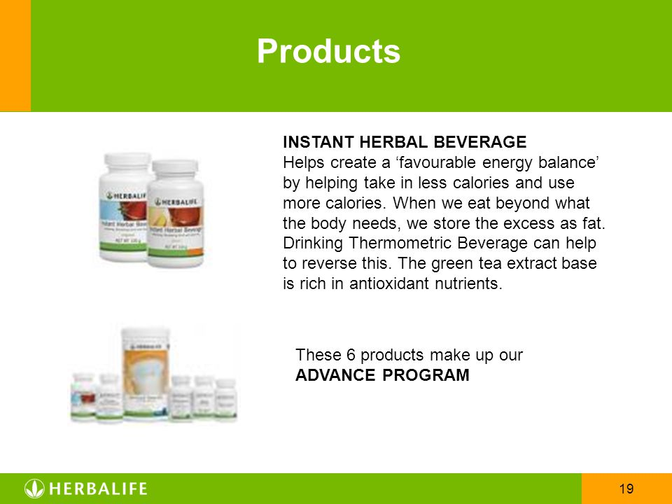 Products INSTANT HERBAL BEVERAGE