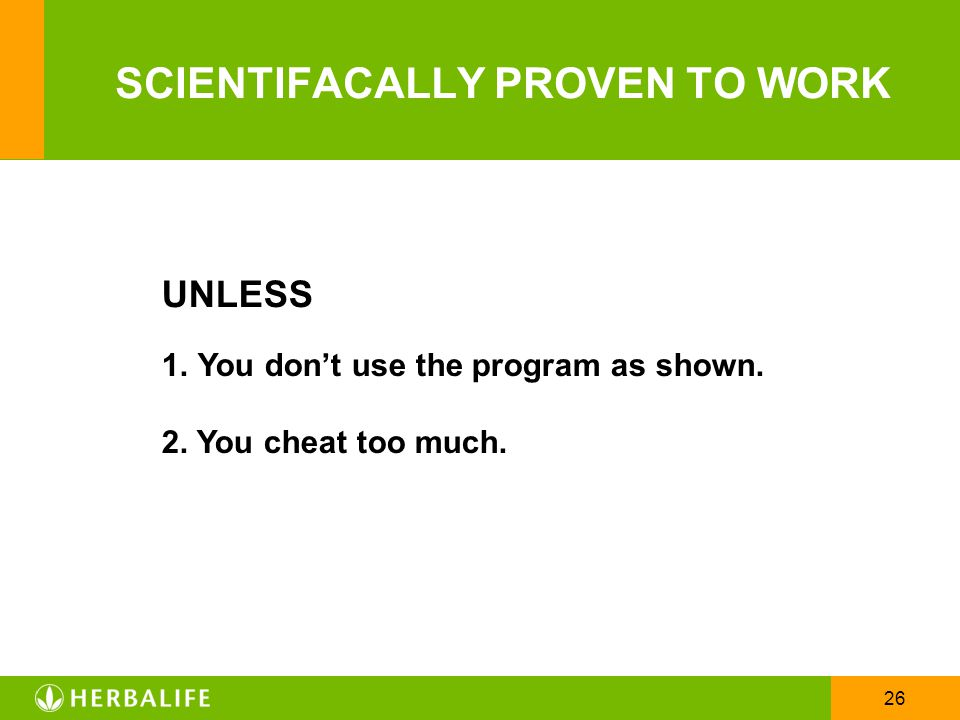 SCIENTIFACALLY PROVEN TO WORK