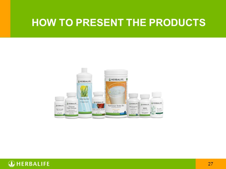 HOW TO PRESENT THE PRODUCTS