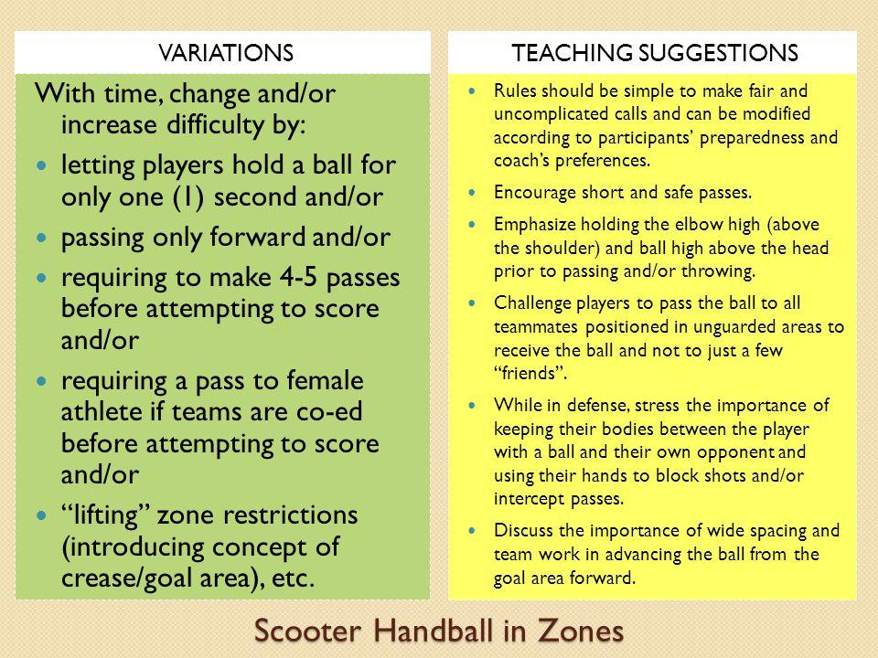 Scooter Handball in Zones