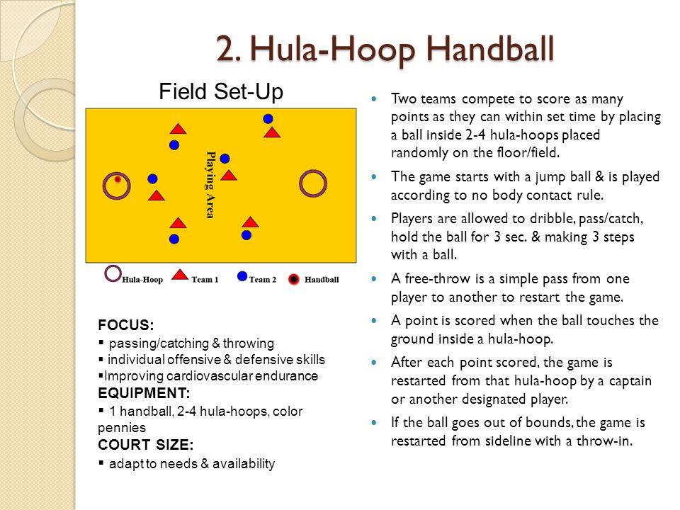 2. Hula-Hoop Handball Field Set-Up