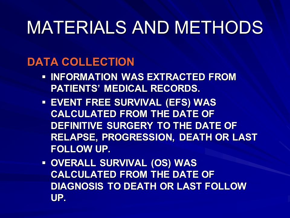 MATERIALS AND METHODS DATA COLLECTION