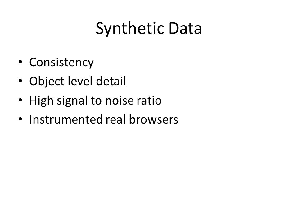 Synthetic Data Consistency Object level detail