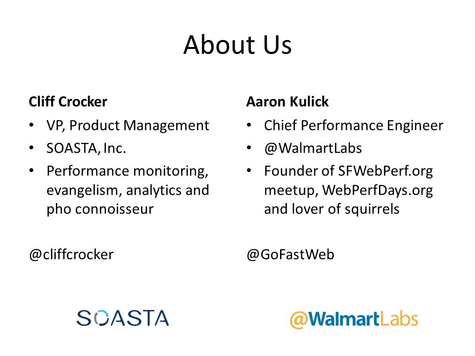 About Us Cliff Crocker Aaron Kulick VP, Product Management