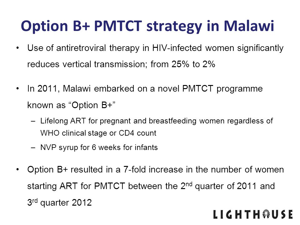 Option B+ PMTCT strategy in Malawi
