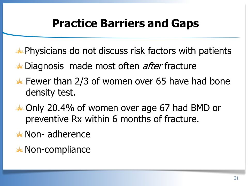 Practice Barriers and Gaps