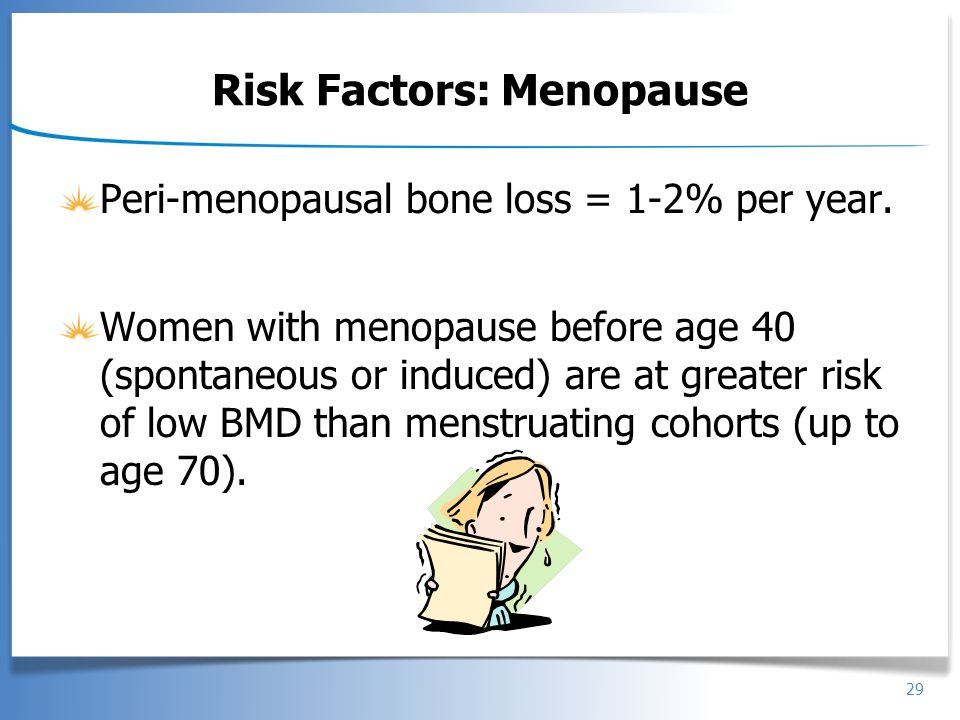 Risk Factors: Menopause