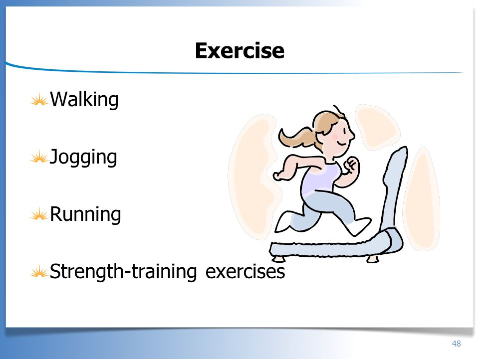 Exercise Walking Jogging Running Strength-training exercises