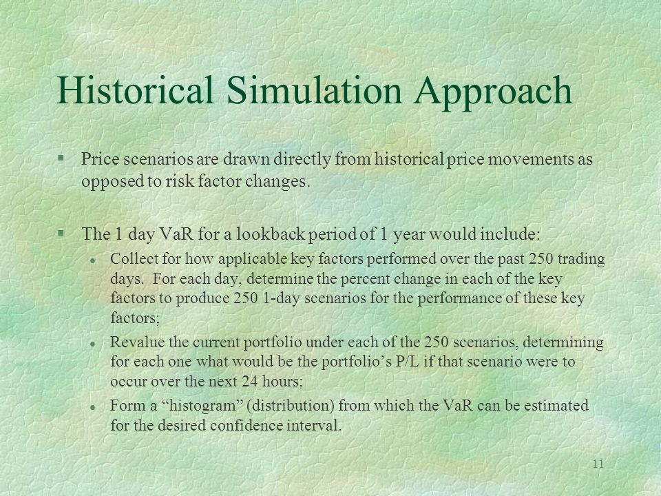 Historical Simulation Approach