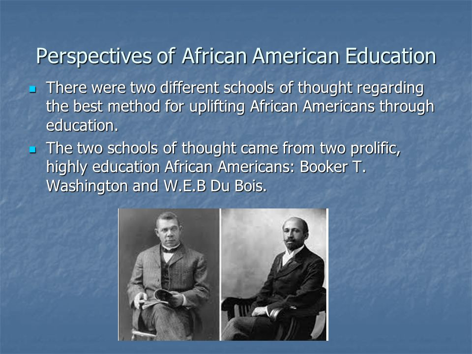 Perspectives of African American Education