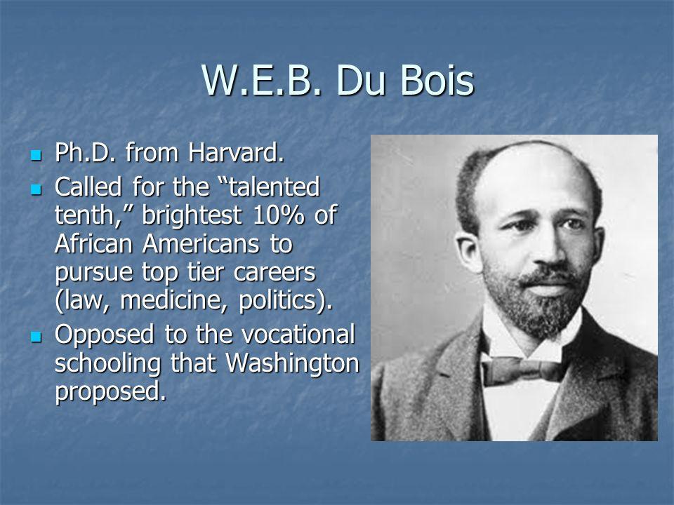 W.E.B. Du Bois Ph.D. from Harvard.