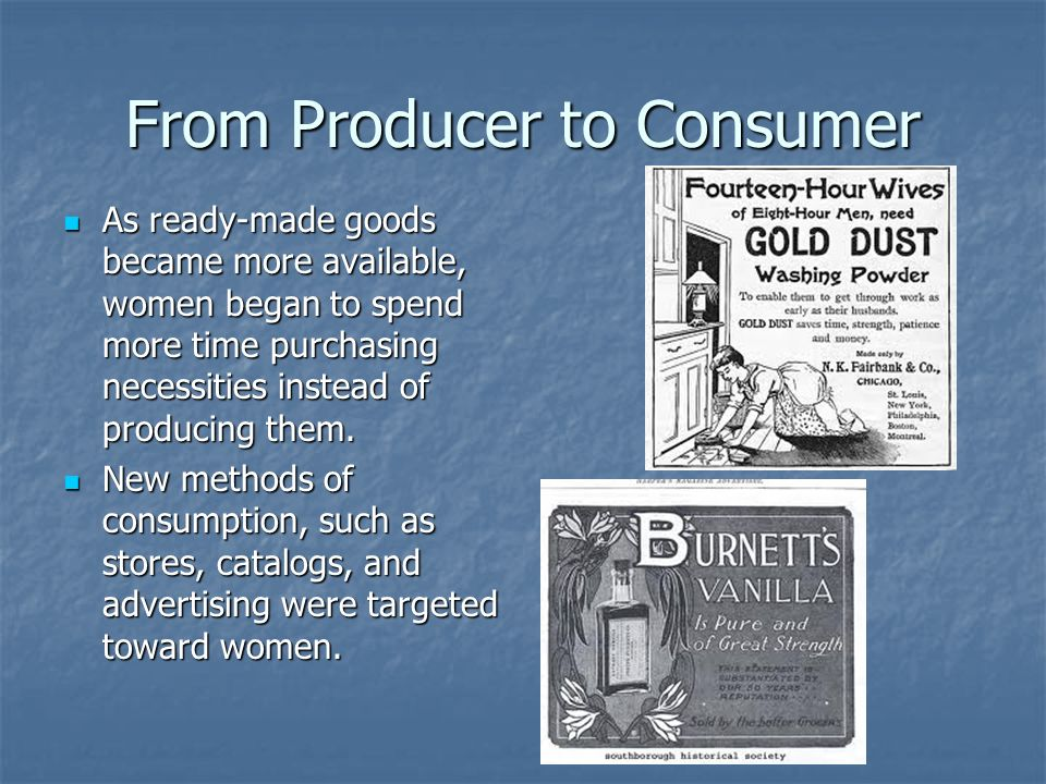 From Producer to Consumer