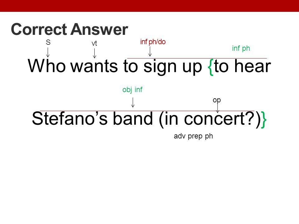 Who wants to sign up {to hear Stefano's band (in concert )}