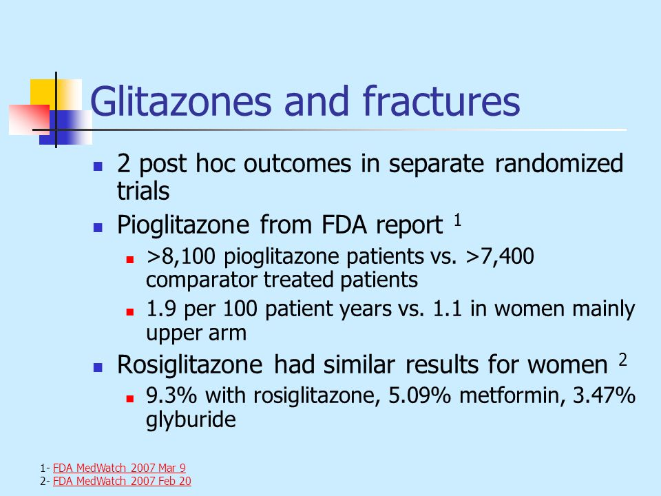 Glitazones and fractures