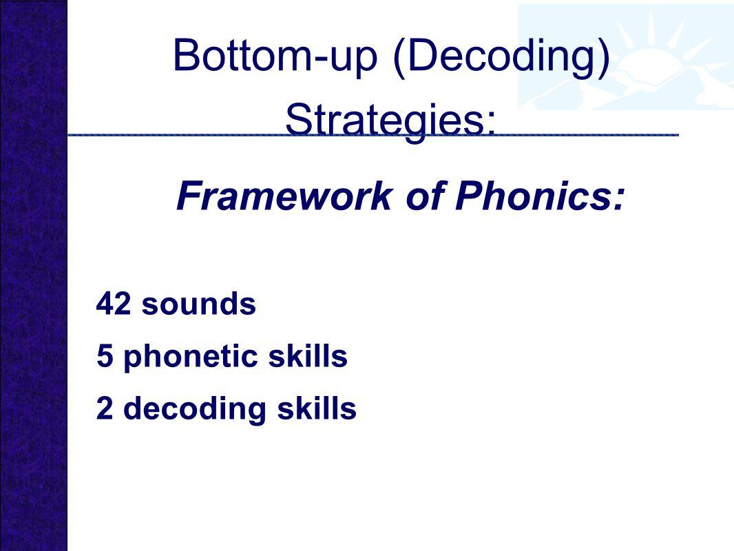 Bottom-up (Decoding) Strategies: