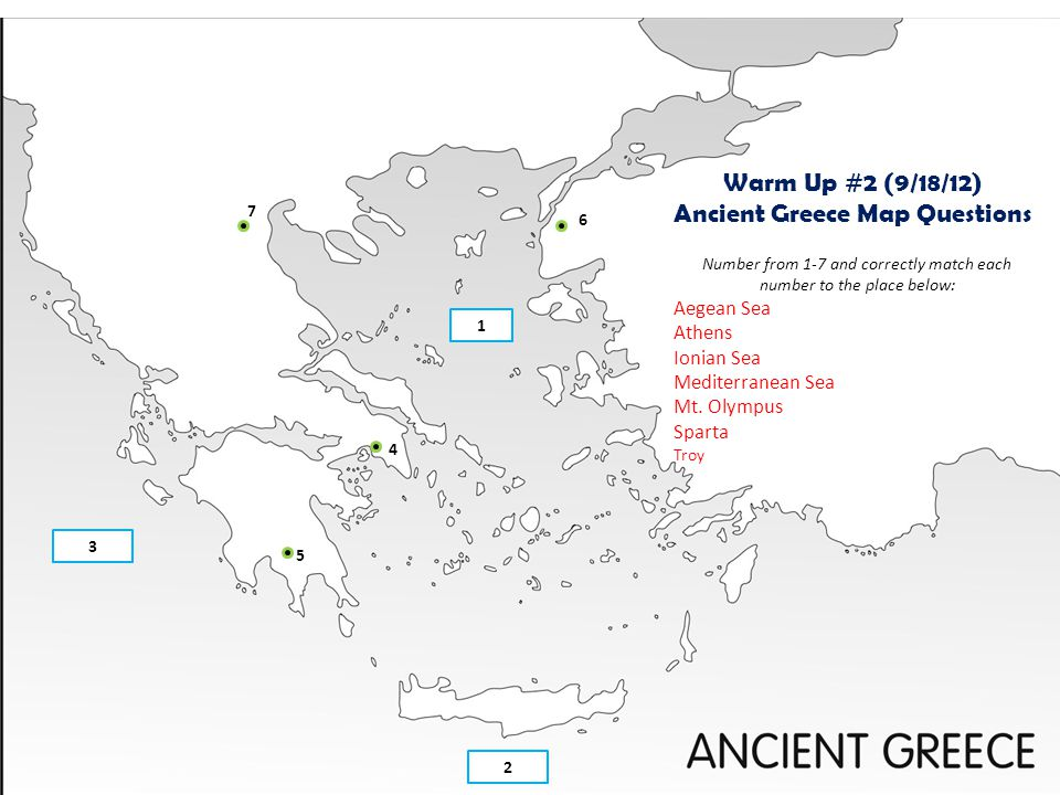Ancient Greece Map Questions
